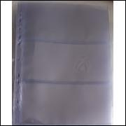 *Folha de acetato para 3 cédulas (ou documentos, furação universal. (5 unidades)