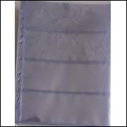 *Folha de acetato para 4 cédulas (ou documentos, furação universal. (5 unidades)