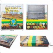 Álbum para moedas do Brasil. De 1994 a 2025.