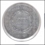 1863 - 1000 Réis, prata, soberba, Brasil-Império, Dom Pedro II.