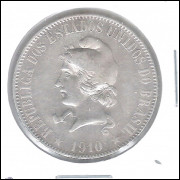 1910 - 2000 Réis, prata, soberba, Brasil-República.