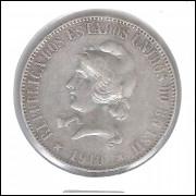 1910 - 2000 Réis, prata, mbc, Brasil-República.