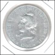 1908 - 2000 Réis, prata, S/FC, Brasil-República.