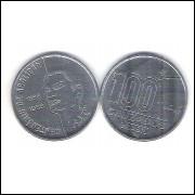 1988 - 100 Cruzados, Comemorativas ao 1o Centenário da Abolição da Escravatura. Homem.
