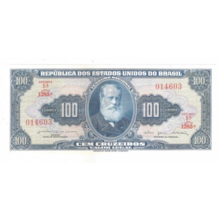 C035 - 100 Cruzeiros, 1964, 1a estampa, FE. D.Pedro II.