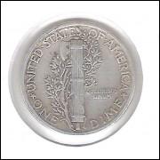 Estados Unidos Dime 1942 Prata .900 Mbc Mercúrio 18mm