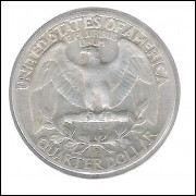 Estados Unidos 1/4 Dollar 1952 D Prata .900 Mbc/s 24mm - 6,25 g