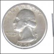 Estados Unidos 1/4 Dollar 1956 Prata .900 Mbc/s 24mm - 6,25 g