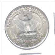 Estados Unidos 1/4 Dollar 1957 Prata .900 Mbc/s 24mm - 6,25 g