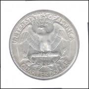 Estados Unidos 1/4 Dollar 1957 D Prata .900 Mbc/s 24mm - 6,25 g