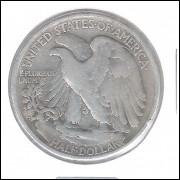 Estados Unidos, Half Dollar, 1942, prata, mbc.