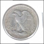 Estados Unidos, Half Dollar, 1944, prata, mbc.