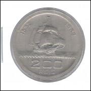 1932 - Brasil, 200 Réis, Comemorativa 4o Centenário da Colonização. mbc/s. Caravela.