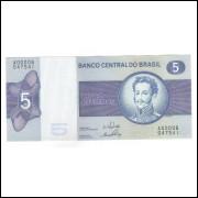 C133 - 5 Cruzeiros, 1970, Série 6, Estampa A, Delfin Netto e Ernane Galvêas, s-fe. D.Pedro I.