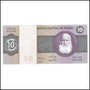 C137 - 10 Cruzeiros, 1970, Estampa A, Série 102 Delfin Netto e Ernane Galvêas, s-fe. D.Pedro II.