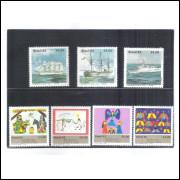 Cartelas com duas tiras, para organizar os selos. Pacote com 10 unidades.