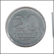 1960 - 20 Centavos, alumínio, FC.