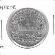 Alemanha Império, 1 Mark 1915 J, S/FC, prata.