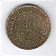 1900 - Brasil, 40 Réis, bronze, mbc/s