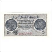 Alemanha 3o Reich, 5 Reichsmark 1945, fe.
