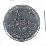 1995 - 10 Centavos, FAO, soberba (s/fc), aço. Comemorativa.