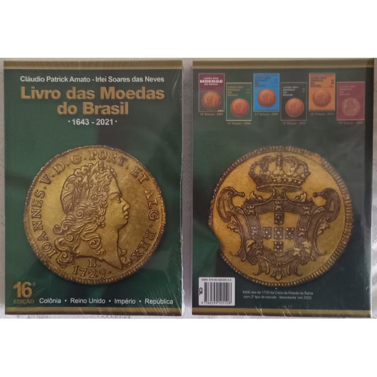LANÇAMENTO: Livro das Moedas do Brasil - 1643 a 2021 - 16a edição - 2021