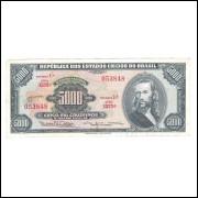 C059- 5000 Cruzeiros, 1964, estampa 1a, Valor Legal, mbc/s. Tiradentes.