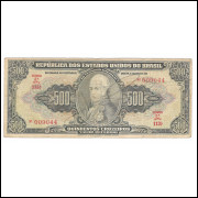 C099- 500 Cruzeiros, 1948, Autografada, estampa 2a, mbc. Dom João VI.