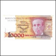 C196 - 10000 Cruzados 1988, No 100000 (ÚLTIMA), fe. Carlos Chagas