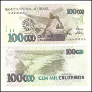 C235 - 100 Cruzeiros Reais, 1993, FE. Beija Flor.