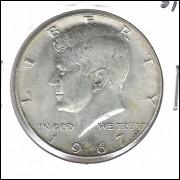 Estados Unidos, Half Dollar, 1967, prata, Kennedy, S/FC.