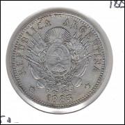 Argentina, 50 Centavos, 1883, soberba, prata .900.