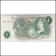 Inglaterra - (P.374e) 1 Pound, 1966-70, Rainha Elizabeth II, s.