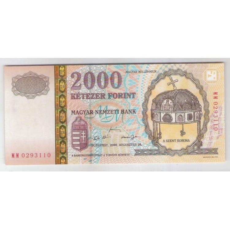 Hungria - (P.186) 2000 Forint, 2000, fe..
