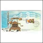 FDC-034 - 1973 - Companhia Telefônica Brasileira - 50 Anos. Carimbo 1o Dia e Comemorativo- Guanabara