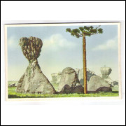 PG03 - Cartão postal antigo, Vila Velha, Carimbo de Esperanto. Livraria Ghignone.