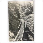 EF03 - Cartão postal antigo, Viaduto Taquaral, Estrada de Ferro Paraná.
