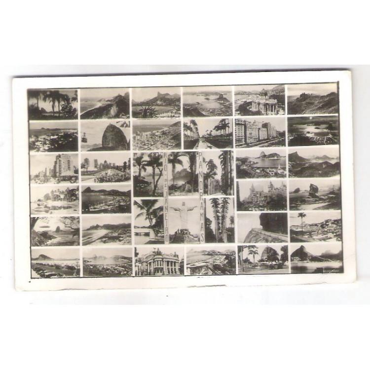 RJ107 - Cartão postal antigo, Rio de Janeiro, 36 vistas. Wessel