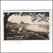 RJ106 - Cartão postal antigo, Rio de Janeiro, Leblom e Ipanema. Postal propaganda: Dr. Estellita