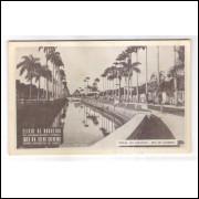 RJ105 - Cartão postal antigo, Rio de Janeiro, Canal do Mangue. Postal propaganda: Vinho Creosotado.
