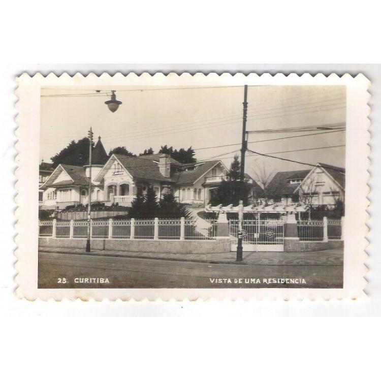 CTB50 - Postal antigo, Curitiba - Vista de uma residência (Av. Batel).