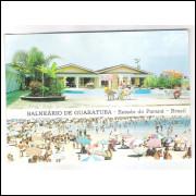 Cartão postal, Balneário de Guaratuba, Motel Santa Paula. Praias. Paraná-Cart.