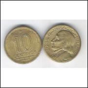 1948 -  10 Centavos, bronze-alumínio, mbc. José Bonifácio.