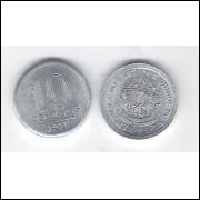 1957 -  10 Centavos, alumínio, s/fc.