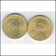 1945 - 50 Centavos, bronze-alumínio, FC. Getúlio Vargas.