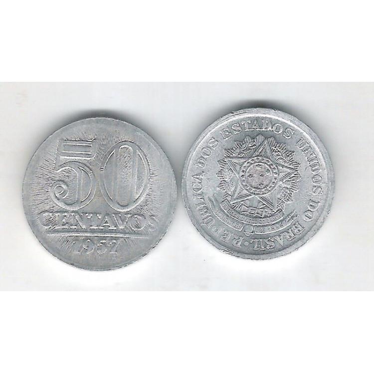 1957 - 50 Centavos, alumínio, FC.