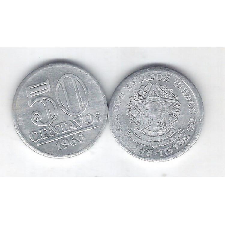 1960 - 50 Centavos, alumínio, S-FC.