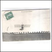 Postal Circulado em 1920, Le Santos Dumont, Aviação.