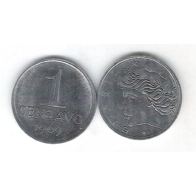 1969 -  1 Centavo, aço, s/fc.