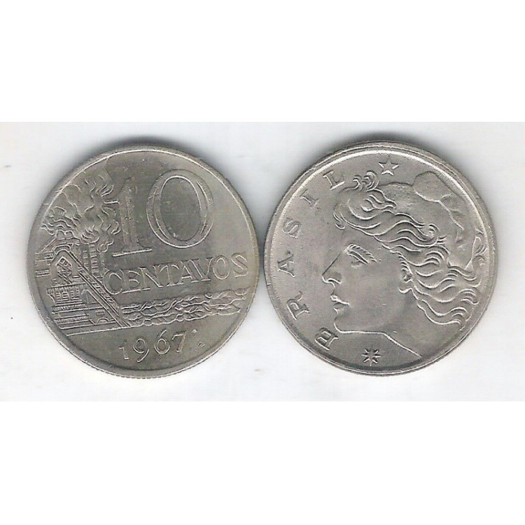 1967 - 10 Centavos, soberba. Cupro-níquel.